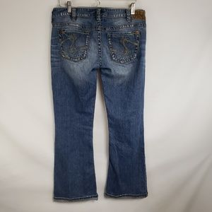 Silver Jeans Jeans - Silver Jeans Distressed Whiskered Boot Cut Jeans